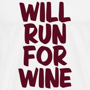 WILL RUN FOR WINE Langarmshirts - Männer Premium T-Shirt