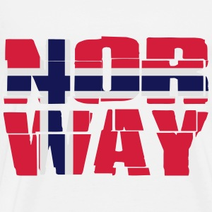Norway Flag Sweatshirts - Herre premium T-shirt