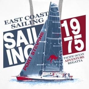 East Coast Sailing  Tee shirts - Sweat-shirt à capuche Premium pour hommes