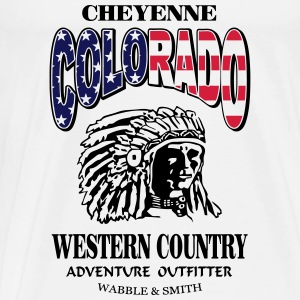 Colorado Indian Chief Shirt Design Tank Tops - Männer Premium T-Shirt