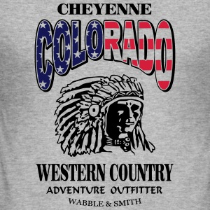 Colorado Indian Chief Shirt Design Sweaters - slim fit T-shirt