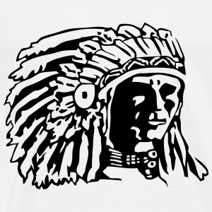 Indian Chief Shirt Design Hoodies & Sweatshirts - Men's Premium T-Shirt