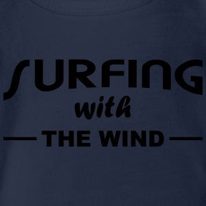 Surfing with the wind Langarmshirts - Baby Bio-Kurzarm-Body