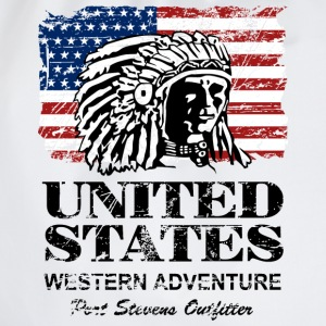 USA Flag - Indian Chief - Vintage Look T-shirts - Sportstaske