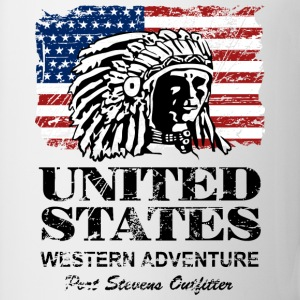 USA Flag - Indian Chief - Vintage Look T-shirts - Kop/krus