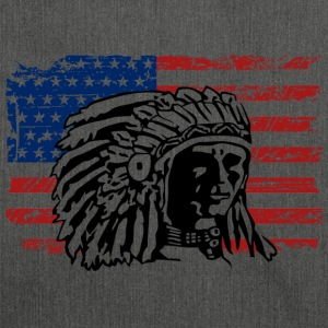 American Flag - Indian Chief - Vintage Look T-Shirts - Shoulder Bag made from recycled material