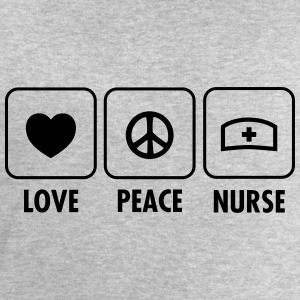 Love, Peace, Nurse T-Shirts - Men's Sweatshirt by Stanley & Stella