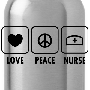 Love, Peace, Nurse T-Shirts - Water Bottle