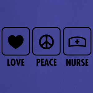 Love, Peace, Nurse T-Shirts - Cooking Apron