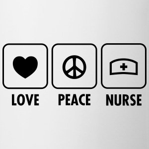 Love, Peace, Nurse Sports wear - Mug