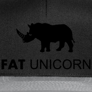 Fat Unicorn T-Shirts - Snapback Cap