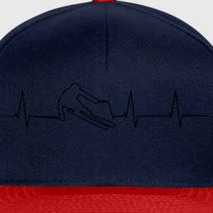 Les skieurs heartbeat Tee shirts - Casquette snapback