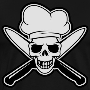 Skull chef Tabliers - T-shirt Premium Homme
