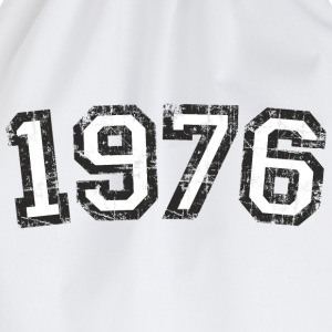 Year 1976 Birthday Design Vintage White (EU) T-Shirts - Drawstring Bag