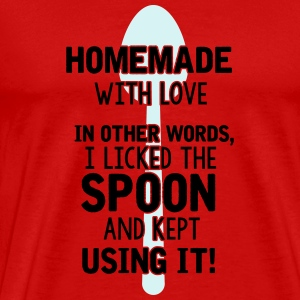 I licked the spoon with love - Cooking quote Shirts met lange mouwen - Mannen Premium T-shirt