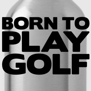 born to play pool - Water Bottle
