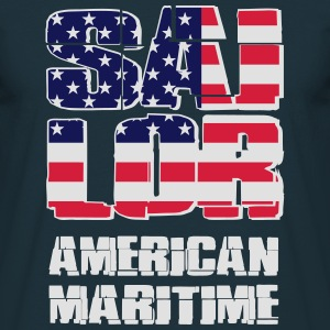 USA Maritime Sailor Gensere - T-skjorte for menn