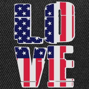 USA Flag - Love T-shirts - Snapback Cap
