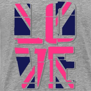 Union Jack - Love Tops - Men's Premium T-Shirt