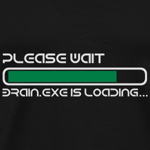 BRAIN IS LOADING Umbrellas - Men's Premium T-Shirt