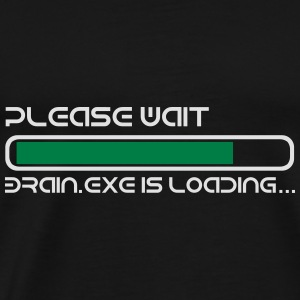 BRAIN IS LOADING Toppe - Herre premium T-shirt