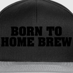 born to home brew - Snapback Cap