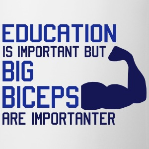 BIG BICEPS ARE IMPORTANTER Koszulki - Kubek