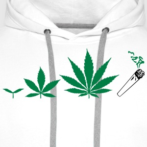 Cannabis development Tabliers - Sweat-shirt à capuche Premium pour hommes