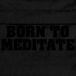 born to meditate - Kids' Backpack