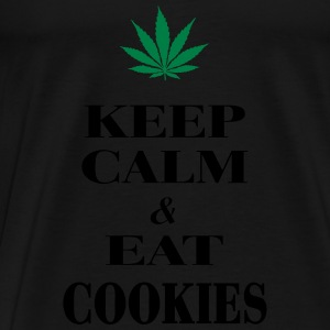 Keep Calm & Eat Cookies Sportbekleidung - Männer Premium T-Shirt
