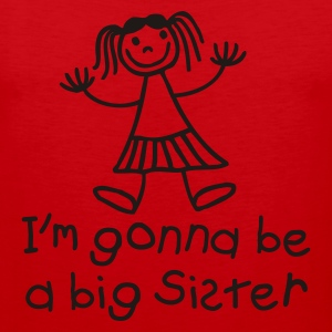 I'm gonna be a big sister Skjorter - Premium singlet for menn