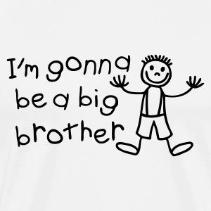 I'm gonna be a big brother Langarmede T-skjorter - Premium T-skjorte for menn