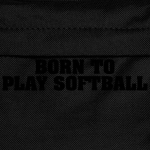 born to play softball - Kids' Backpack