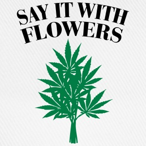 Cannabis - Say it with Flowers Canotte - Cappello con visiera