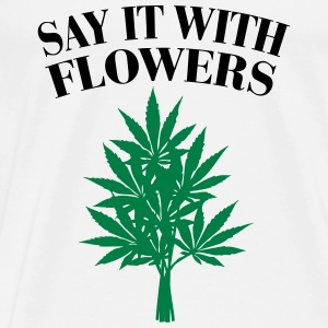 Cannabis - Say it with Flowers Singlets - Premium T-skjorte for menn