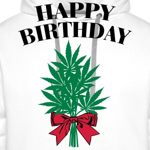 Cannabis - Happy Birthday  T-shirts - Herre Premium hættetrøje