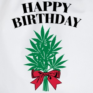 Cannabis - Happy Birthday  Langærmede t-shirts - Sportstaske