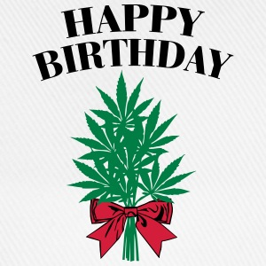 Cannabis - Happy Birthday  Langærmede t-shirts - Baseballkasket