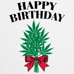Cannabis - Happy Birthday  Tank topy - Fartuch kuchenny