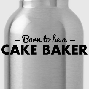 born to be a cake baker - Water Bottle