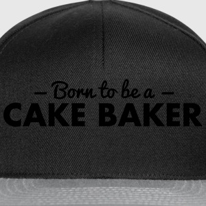 born to be a cake baker - Snapback Cap