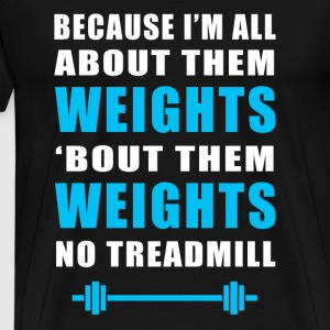 Funny Gym Weights Sports - Men's Premium T-Shirt