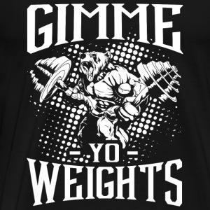 Weights Gym Sports Quotes - Men's Premium T-Shirt