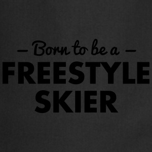 born to be a freestyle skier - Cooking Apron