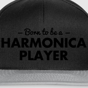 born to be a harmonica player - Snapback Cap