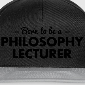 born to be a philosophy lecturer - Snapback Cap
