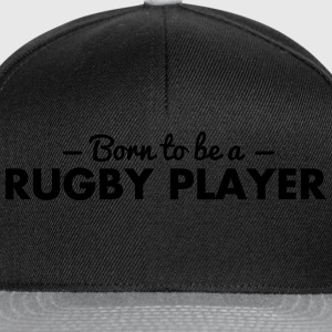 born to be a rugby player - Snapback Cap