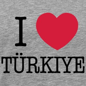 I LOVE TURKEY - I LOVE TÜRKIYE Sweatshirts - Herre premium T-shirt