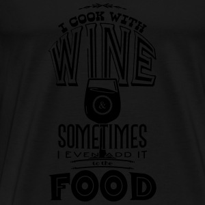 I cook with wine Sweaters - Mannen Premium T-shirt