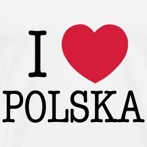 I LOVE POLAND Bags & Backpacks - Men's Premium T-Shirt